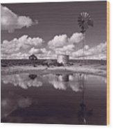 Ranch Pond New Mexico Wood Print