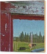 Ranch Reflection Wood Print