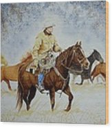 Ranch Rider Wood Print