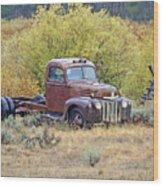 Ranch Truck II Wood Print