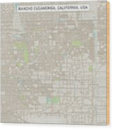 Rancho Cucamonga California Us City Street Map Wood Print