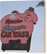 Rancho Super Car Wash  Wood Print