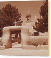 Ranchos De Taos Church   New Mexico Wood Print