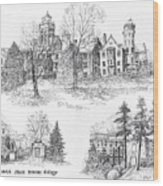 Randolph Macon College Wood Print