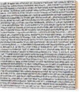 Random Text Wood Print