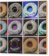 Randy's Donuts - Dozen Assorted Wood Print