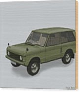 Range Rover Classical 1970 Wood Print by TortureLord Art