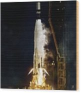 Ranger 1 Atlas-agena Rocket Launch Wood Print