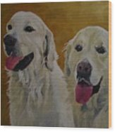 Ranger And Riley Waiting For A Command Wood Print