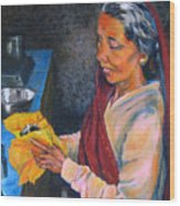 Rani The Cook Wood Print