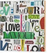 Ransom Art - Love Wood Print