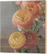 Ranunculus - 6313 Wood Print
