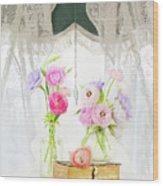 Ranunculus In Window Wood Print
