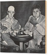 Raoul And Dr. Gonzo In Las Vegas Wood Print