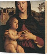 Raphael Madonna And Child C Wood Print