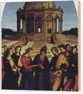 Raphael Marriage Of The Virgin Wood Print