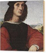 Raphael Portrait Of Agnolo Doni Wood Print