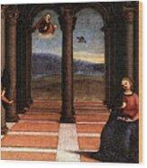 Raphael The Annunciation  Oddi Altar Predella  Wood Print