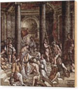 Raphael The Baptism Of Constantine Wood Print