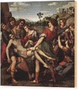 Raphael The Entombment Wood Print