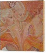 Raphsody On An Iris Wood Print