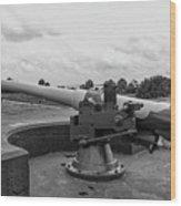 Rapid Fire Gun Wood Print