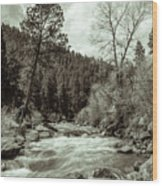 Rapids During Spring Flow On The South Platte River Wood Print