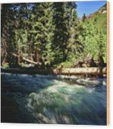 Rapids Near Maroon Bells Wood Print