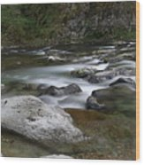 Rapids On The Washougal River Wood Print