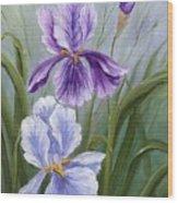 Rapsody Iris Wood Print