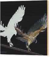 Raptor And His Soul Wood Print