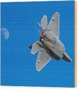 Raptor Moon Wood Print