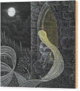 Rapunzel By Night Wood Print