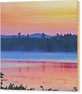 Raquette Sunrise 2 Wood Print