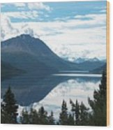 Rare Moment On Tutchi Lake Wood Print