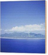 Rarotonga Aerial Wood Print