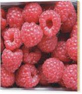 Rasberries Market Bergen Wood Print