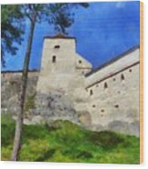 Rasnov Fortress Wood Print