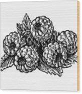 Raspberries Image Wood Print