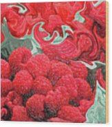 Raspberries Wood Print