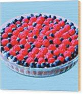 Raspberry And Blueberry Tart Wood Print