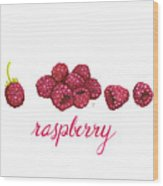 Raspberry Wood Print by Cindy Garber Iverson