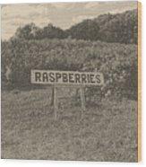 Raspberry Fields  Wood Print