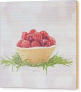 Raspberry Holidays Wood Print