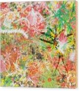 Rasta Flowers Wood Print