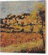 Rasteau Vaucluse  Wood Print