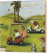 Rat Race 2  At The Golf Course Wood Print