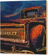 Rat Rod Chevy Truck Wood Print