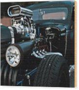 Rat Rod Coupe Wood Print