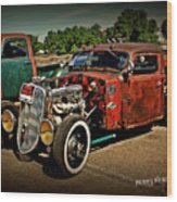 Rat Rod For Sale Wood Print